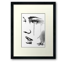 define........a face study Framed Print