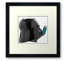 Vader Inhaler Framed Print