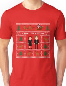 I WANT TO BELIEVE IN UGLY CHRISTMAS Unisex T-Shirt