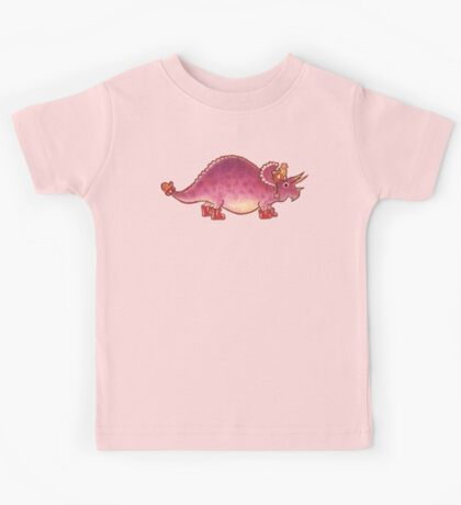 Pink Triceratops Derposaur with Wellies Kids Tee