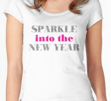 Sparkle Into The New Year Women's Fitted Scoop T-Shirt