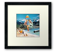 Poseidon in Love Framed Print