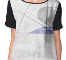 Abstract painting in light pastel tones .  Chiffon Top