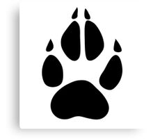 hunter footprint  cerf chasseur Canvas Print