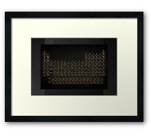 Periodic Table of Elements - Gold on Black  Framed Print