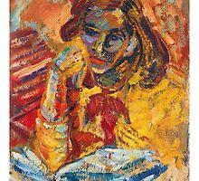 Girl Reading by Adam JL Dutkiewicz