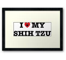 I Heart My Shih Tzu Framed Print