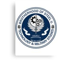 Brotherhood of Steel University - Tech & Firepower Canvas Print