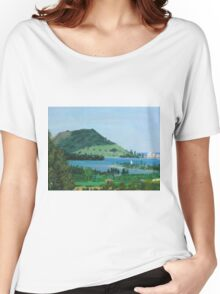 Mount Maunganui New Zealand, View From Te Puna Quarry Women's Relaxed Fit T-Shirt