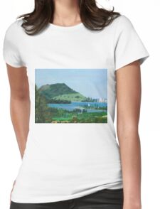 Mount Maunganui New Zealand, View From Te Puna Quarry Womens Fitted T-Shirt