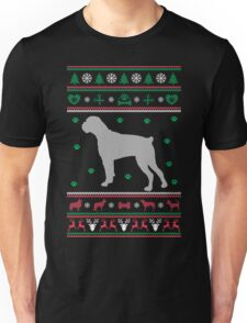 Boxer Ugly Christmas Sweater Unisex T-Shirt