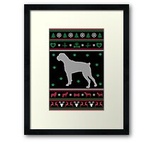 Boxer Ugly Christmas Sweater Framed Print