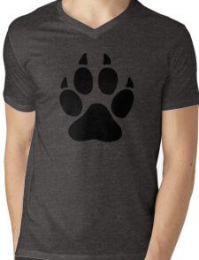 hunter footprint  ours bear chasseur Mens V-Neck T-Shirt