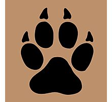 hunter footprint  ours bear chasseur Photographic Print
