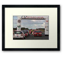 Oz Gymkhana Start/Finish Framed Print