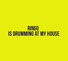 Ringo is drumming at my house... by TotalPotencia