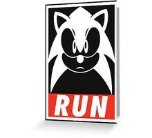 Sonic Run Greeting Card