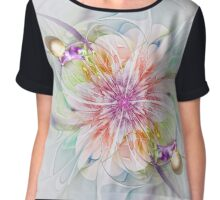 Abstract colourful flower - computer-generated image Chiffon Top