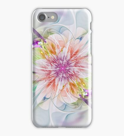 Abstract colourful flower - computer-generated image iPhone Case/Skin