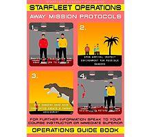 Star Trek - Operations Red Shirt Instructions Photographic Print