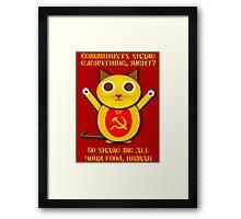 Comrade cat Framed Print