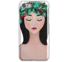 Laurel - christmas wreath crown iPhone Case/Skin