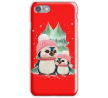 Cute Little Girl Penguins iPhone Case/Skin