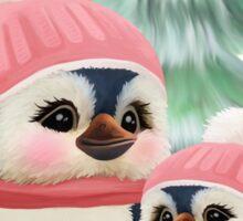 Cute Little Girl Penguins Sticker