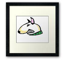 English Bull Terrier Head Framed Print