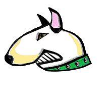 English Bull Terrier Head Photographic Print