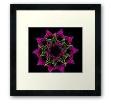 Artistic  mandala flower Framed Print