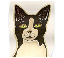 Oreo Mustachio the Cat Poster