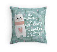 Lazy Quote Throw Pillow