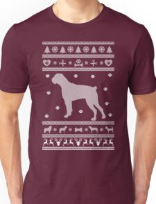 Boxer Monochrome Ugly Christmas Sweater Unisex T-Shirt