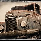 Old Truck ... salvage yard by Malcolm Heberle