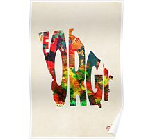 Georgia Typographic Watercolor Map Poster