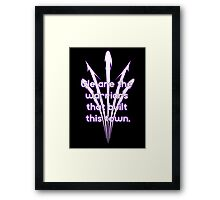 Warriors purple team Framed Print