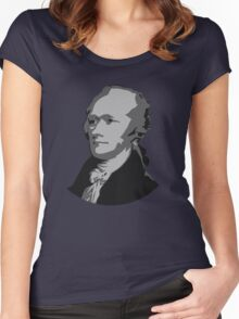 Alexander Hamilton Graphic Women's Fitted Scoop T-Shirt