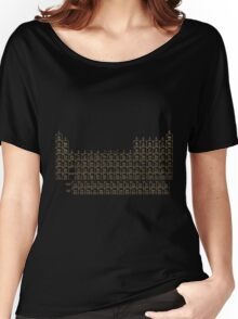Periodic Table of Elements - Gold on Black Metal Women's Relaxed Fit T-Shirt