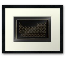 Periodic Table of Elements - Gold on Black Metal Framed Print