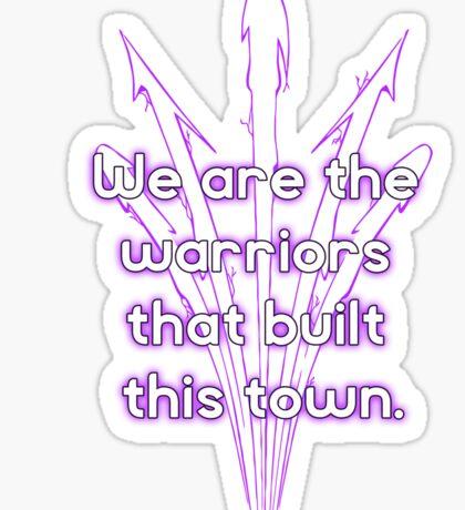 Warriors purple team Sticker