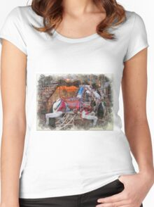 Antique Carousel Horse Women's Fitted Scoop T-Shirt