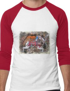 Antique Carousel Horse Men's Baseball ¾ T-Shirt
