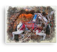 Antique Carousel Horse Canvas Print