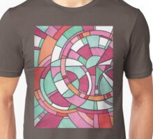 Circle and Line Color Design Unisex T-Shirt
