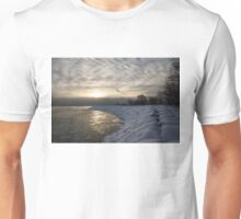 Cold, Moody and Fabulous - a Winter Morning on the Lake Shore Unisex T-Shirt