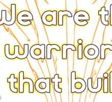 Warriors Gold Sticker