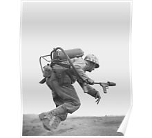Flamethrower Operator - Battle of Iwo Jima  Poster