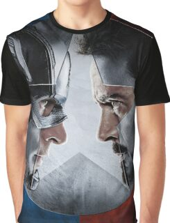CAPTAIN AMERICA VS IRON MAN Graphic T-Shirt