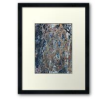 Blue and Raw Sienna Mineral Framed Print